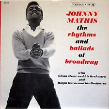 JOHNNY MATHIS THE RHYTHMS AND BALLADS OF BROADWAY 2X LP COLUMBIA C2L 17 MONO