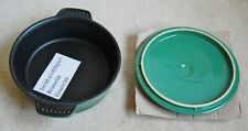"PARINI Round Baker with Lid Green in oven Cookware pot 8"" NEW in Original box"