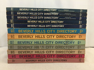 Beverly Hills City Directory 1966-1985 Misc Years Vintage Phonebooks Lot of 12