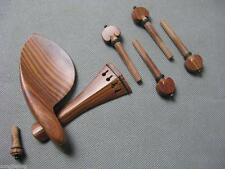 one set rosewood violin parts. chinrest, tailpiece,endpin, pegs for 4/4 violin