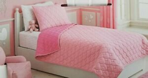 2 pc Circo Pink Reversible Heart Twin Quilt & Sham Set NIP