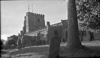 B/W Negative  Ramsbury Wiltshire Village Scene Church 1947 +Copyright DB1426