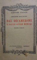 GIOVANNI BOCCACCIO DAL DECAMERONE E DALLE OPERE MINORI  1953