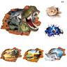 3D gebrochen Fußball Dinosaurier Boden Decke abnehmbare Wandaufkleber Vinyl U8H2