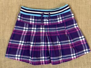 Mini Boden Cozy Purple Plaid Flannel Mini Skirt * 7/8 Years