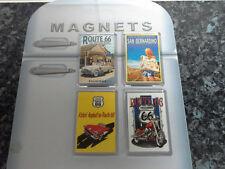 Route 66 Fridge Magnet Set. NEW. USA Travel Souvenir. Passadena, San Bernardino