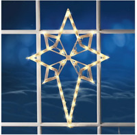 "17""H Illuminated Star of Bethlehem Window Silhouette Christmas Holiday Decor"