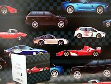 WRAPPING PAPER 2 SHEETS  GIFT WRAP &  MATCHING GIFT TAG  BIRTHDAY MENS BOYS CAR