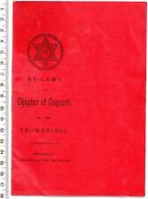 TROWBRIDGE Masonic By-laws Booklet - Roundstone Street - Wiltshire