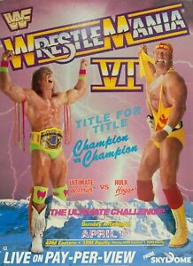 Wrestlemania 6 Poster 13x19 Art Print High Quality Title For Title B2G1 Free