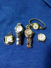 Lot of 5 watches Ladies Swiss Made Endura ESQ Manson Splendor 3 Wind up 2 quartz