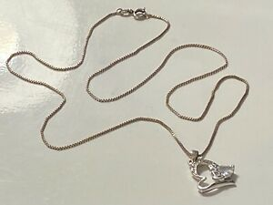 STERLING SILVER CHAIN AND PENDANT LOT 398