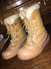 Vintage Sorel Chugalug Womens Snow Winter Boots Brown Leather Size 5 Canada
