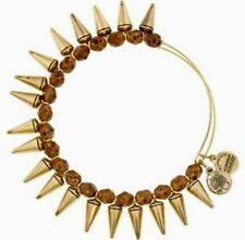 New Alex and Ani Spike of Creativity Bracelet Maple Brown Gold Bangle Energy NWT