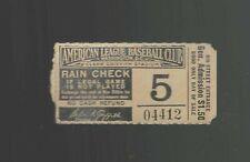 Vtg Nationals WASHINGTON SENATORS Ticket stub 1940s 1950s Griffith MLB Baseball