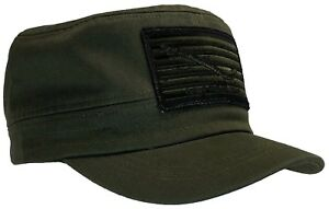 Don't Tread On Me Navy Jack Hat 100% Cotton OD Green Cadet Cap