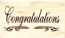 CONGRATULATIONS FLOURISH - Wood Mounted Rubber Stamp - Personal Impressions