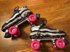 Skechers 4 Wheelers Sport Roller Skates Women's Navy Blue / Pink SN 1910 Size 9