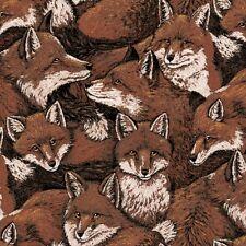 "1 yard ""Fox Love"" Allover Fabric"