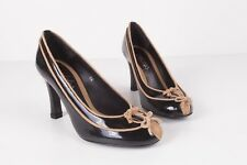MALOLES Women's New  High Heel Patent Leather Black shoes S 36