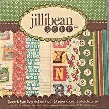 "Jillibean Soup Sweet & Sour Paper Pad 6x6 6"" Vintage Typewriter 24 Sheets NEW"