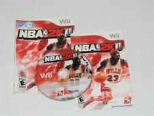 NBA 2K11 - Nintendo Wii Michael Jordan 2K Sports CHICAGO BULLS NBA Video Game