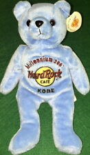Hard Rock Cafe KOBE 2001 MILLENNIUM 21st Century Bear PLUSH Bean Bag BEARA