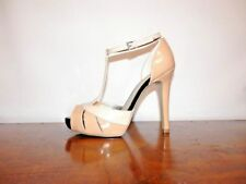 New  Guess OpenToe Sandals By Marciano Lynsey-M Tan/Beige Patent Leather  9