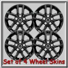 "Jeep Grand Cherokee Wheel Skins 18"" Black Hubcaps 2016-2020 Wheel Covers"