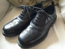 Zara Man Oxford Brogue Shoes Black 7 41 Worn once, Made in Portugal.