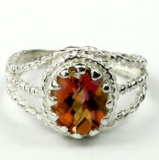 Twilight Fire Topaz, 925 Sterling Silver Ladies Ring, SR070-Handmade
