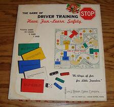 1958 Game of Driver Training Hi-Way Signs J Brown Co Cedar Rapids IA