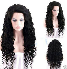 New Hot Sell Women Long Black Wavy Curly Hair Halloween Cosplay Costume Full Wig