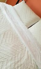 "New Trina Turk ""Freya"" Duvet Set Ivory/ White Size Full/Queen"