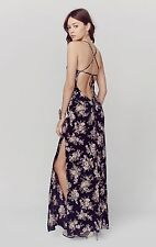 NWT | FLYNN SKYE Saturdaze Floral Print Maxi Dress | Black Magic | S | $216