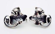 Estate Georg Jensen Denmark Acorn Screw Back Earrings in Sterling Silver