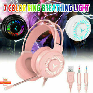 Gaming Headset RDB Led Wired Headphones Stereo with Microphone M10 PC XBOX PS4.2