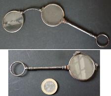 Besicles lunettes pliantes en acier 19e siècle face-à-main glasses