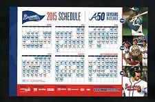 Atlanta Braves--2015 Magnet Schedule--Aaron/Glavine/Maddux