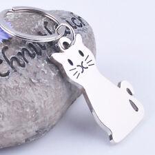 New Smooth Cat Kitty Metal Keychain Keyring Keyfob Car Key Ring Chain Gift Toy