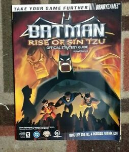 Batman Rise Of Sin Tzu Bradygames Official Strategy Game Guide PS2/XBOX/Gamecube