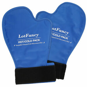 GEL COLD ICE Heat Hot Therapy Relief GLOVE HAND Fingers Mittens for Chemotherapy