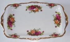 Royal Albert Old Country Roses Bone China Sandwich tray Gold Trim Plate 11 3/4
