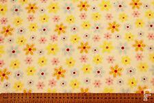 multicolor margaritas en blanco fondo - Tela Poli Algodón Estampada