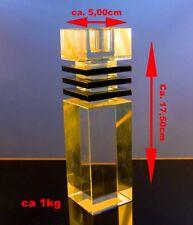 Design Massiv Acryl Glas Kerzenhalter Kerzenständer Tischleuchter Leuchter 175mm
