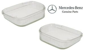 For Mercedes W210 Pair Set of Front Left & Right Fog Light Lenses Genuine