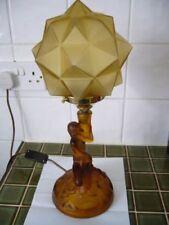 Green Glass Art Deco Lamp