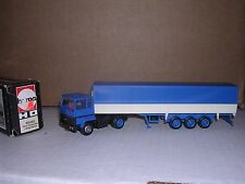 """Herpa #805003 Ford Transcon Cab w/Tri-Axle Covered Trailor """"Blue"""" H.O.Gauge"""