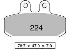Par de pastillas de freno delantero sinteriza SACHS 125 ZZ 125 1999  224 TROFEO