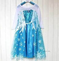 Disney Frozen Fancy Dresses Kids Girls Skirt Child CLoth Party Costume Anna Elsa